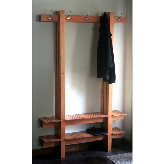 Coat Hat And Shoe Rack Cubby Bench