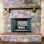 : Completing Living Room With Stone Fireplace Design Ideas
