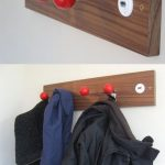 : Joystick in Wood Coat Hanger slat wall hooks