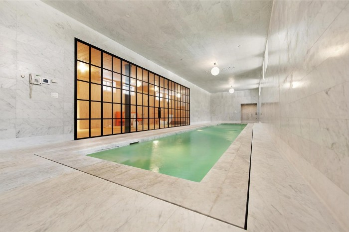 Luxury Indoor Swimming Pool Design At Marble House In Tribeca Miniclip Pool